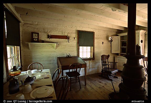 Dining room of Theodore Roosevelt's Maltese Cross Cabin