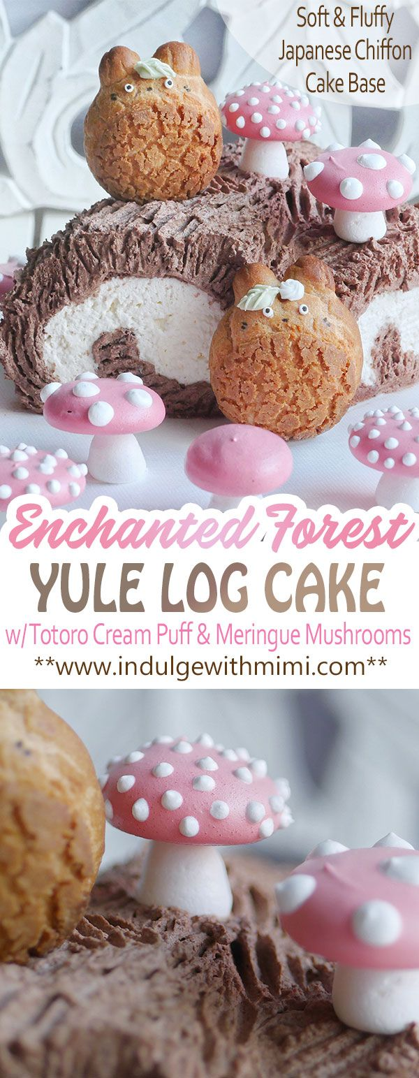 Enchanted Forest Yule Log Cake