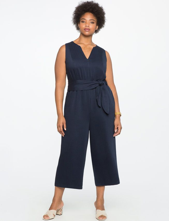 25fe558f9b3 Cropped Wide Leg Jumpsuit from eloquii.com