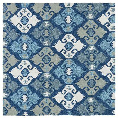 "Andover Mills Chloe Handmade Blue Indoor / Outdoor Area Rug Rug Size: Square 5'9"""