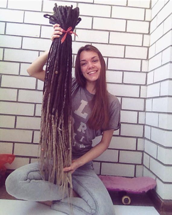 Custom ONE meter long synthetic dreads any colors