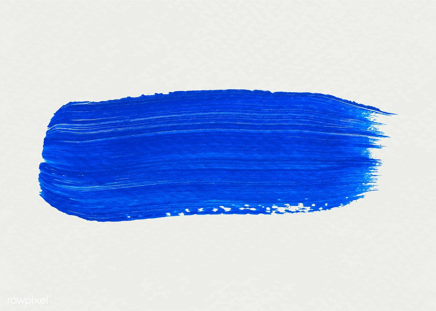 Blue Acrylic Brush Stroke Vector Free Image By Rawpixel Com Adj