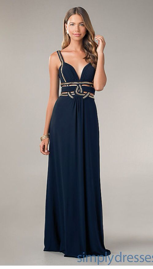 Greecian gold and navy Betsy and Adam prom dress | Prom | Pinterest ...