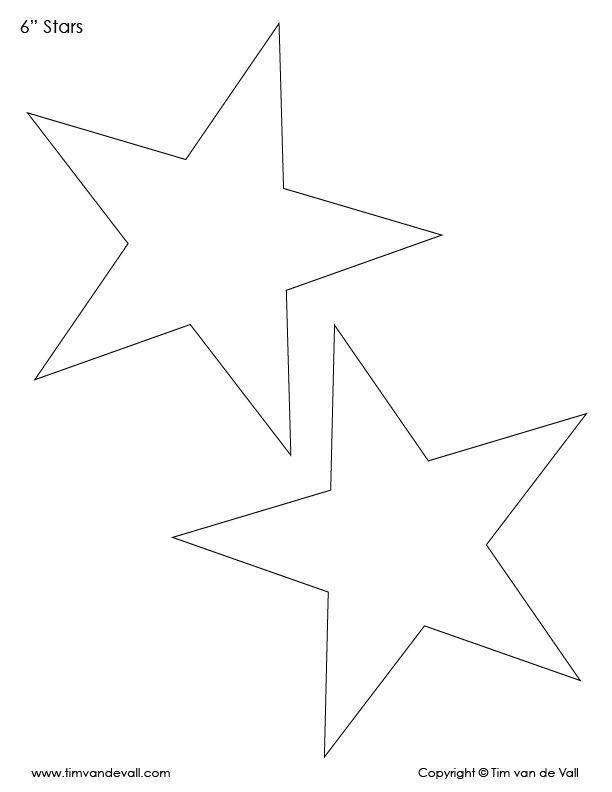 6 Inch Star Template Shape Star Template Star Template Printable Printable Star