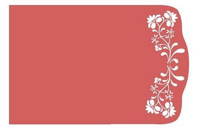 Download Free SVG File Flower Flourish Card from Wanda's Crafts.com ...