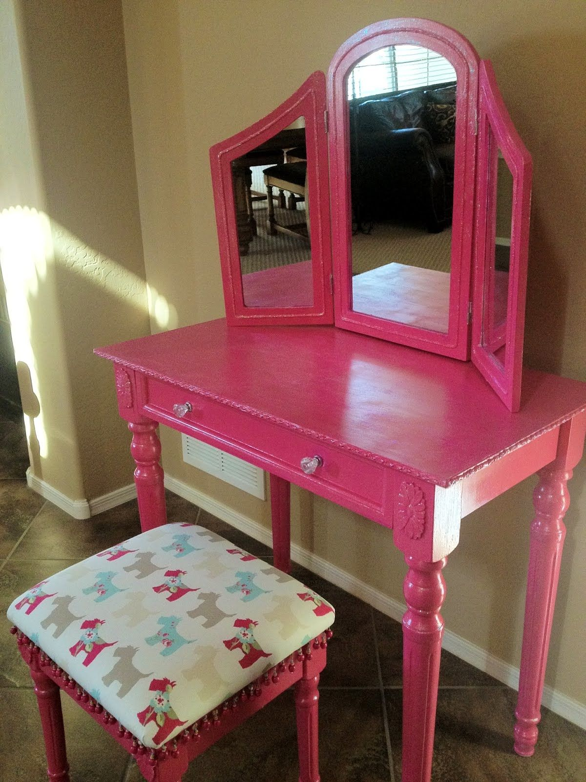 Child size unfinished wood vanity table great starter for child size unfinished wood vanity table great starter for mackenzie will paint to match her room for the home pinterest wood vanity vanity tables geotapseo Choice Image