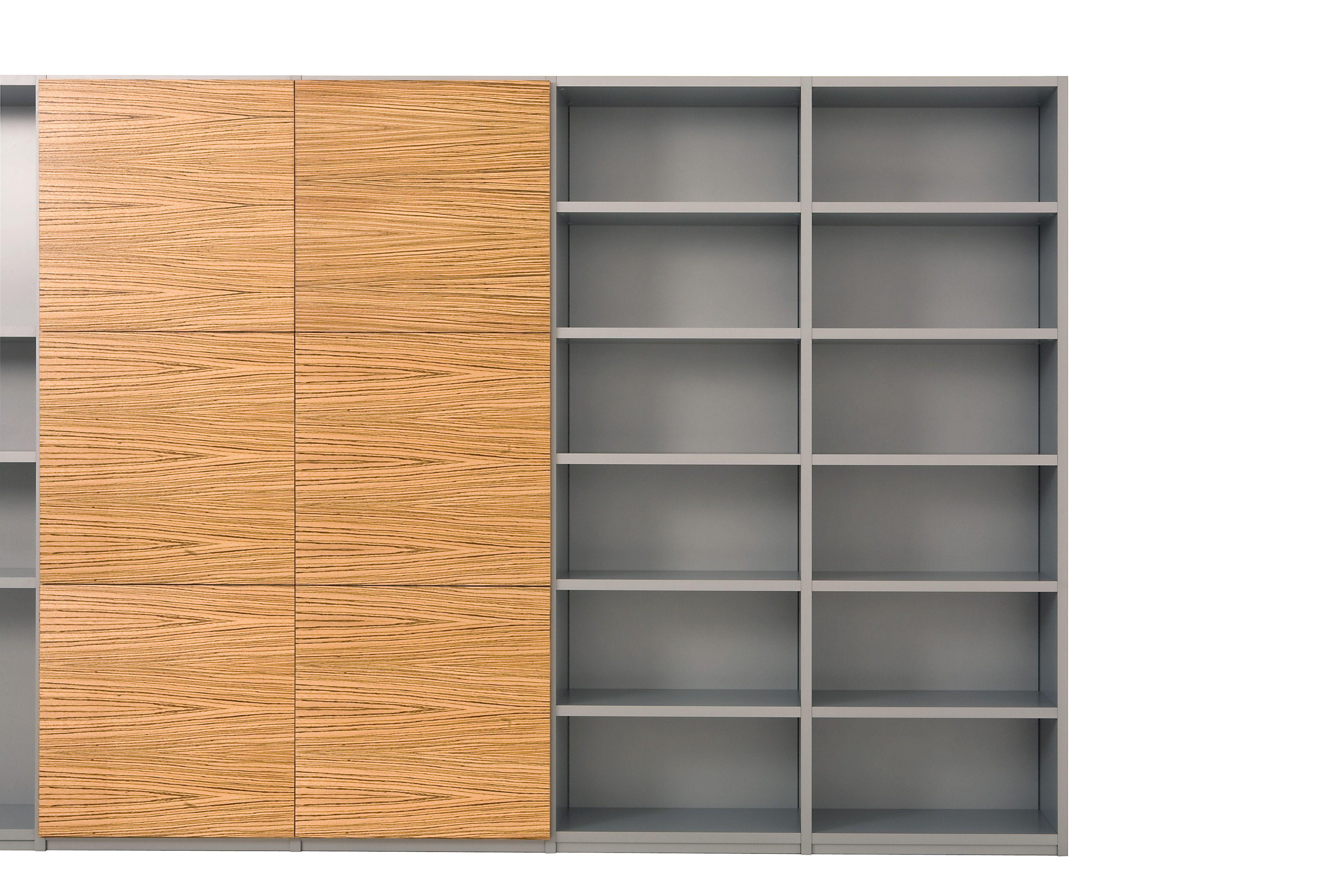 Xxxl container boekenkast met romp in aluminium kleurcoating