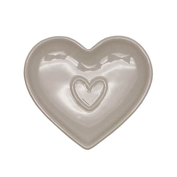 Country Taupe Heart Teabag Tidy | Dunelm