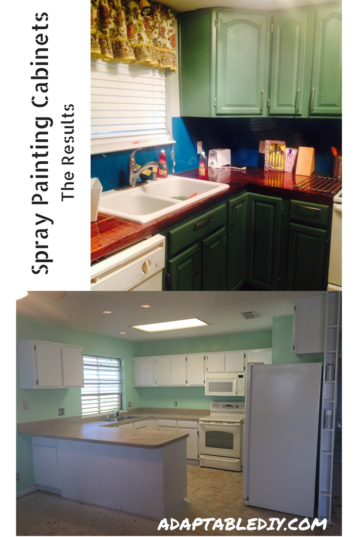 Use Spraypaint To Update Outdated Wooden Kitchen Or Bathroom Cabinets The Finish Is Very Dura Kitchen Cabinets Bathroom Cabinets Diy Low Cost Kitchen Cabinets