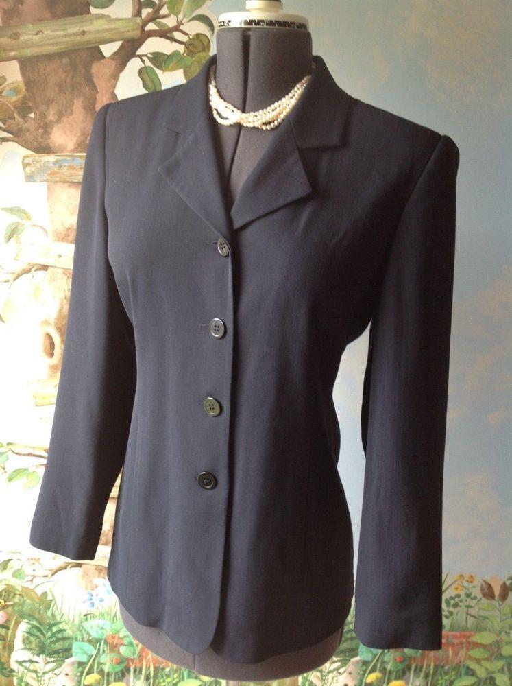 Details about jacqueline ferra long sleeve navy blazer
