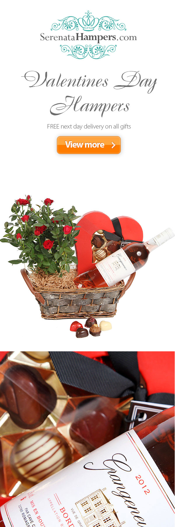 valentines #day #hampers and #gifts with free next day #delivery ...
