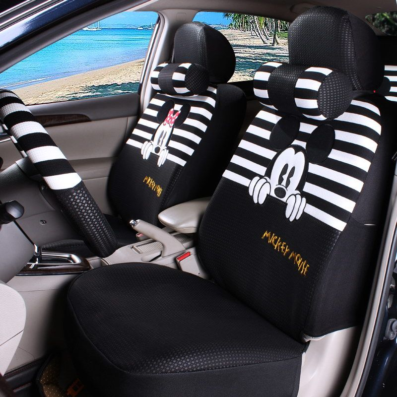 Cartoon Car Seat Covers Universal Fit HONDA SPIRIOR ACCORD ODYSSEY CRV CR  ELYSION VEZEL FIT Car