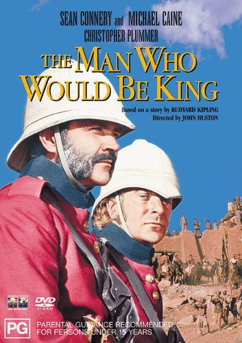 """Director John Huston's """"The Man Who Would Be King"""", starring Sean Connery and Michael Caine (shown), 1975."""