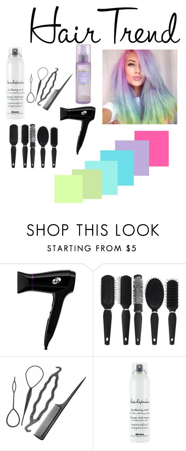 """""""rainbow"""" by anacacho ❤ liked on Polyvore featuring beauty, T3 and Davines"""
