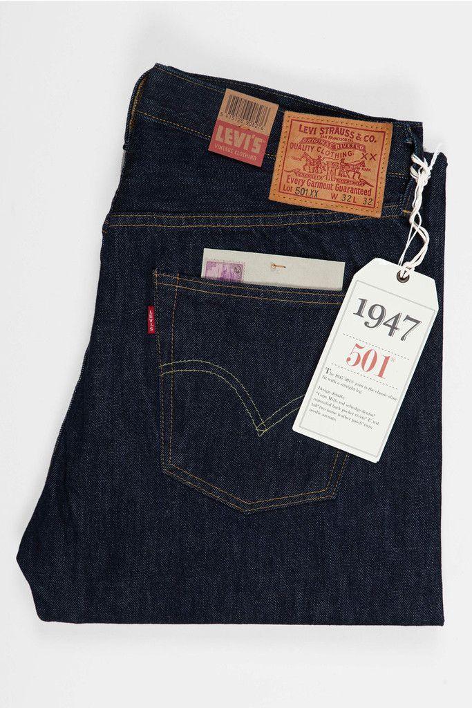 5925207f33e Levi's Vintage Clothing 1947s 501 Jeans - New Rinse | Kicks ...