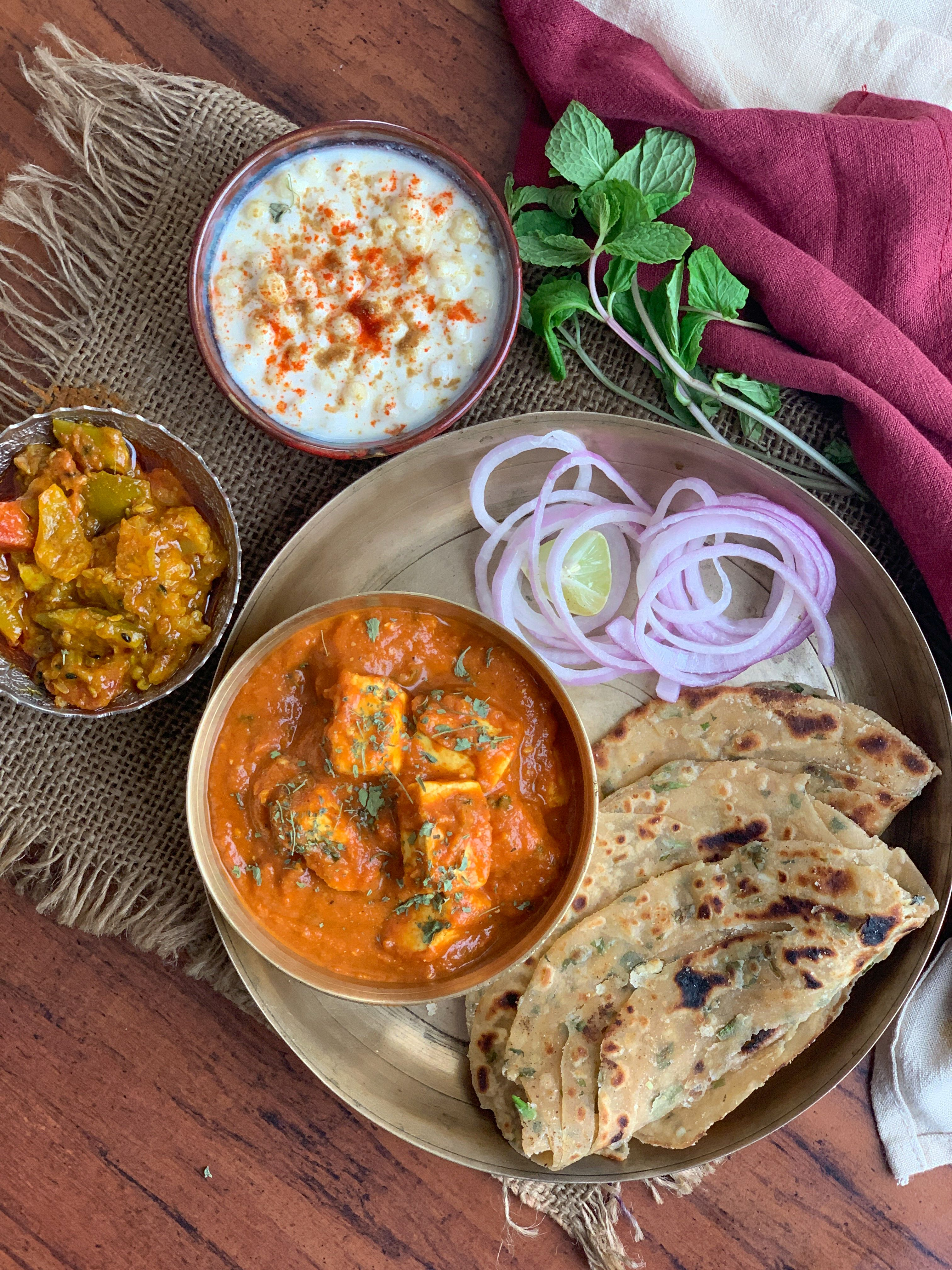 try the achari paneer pudina laccha paratha for a weekend dinner baby food recipes indian on hebbar s kitchen recipes laccha paratha id=91767