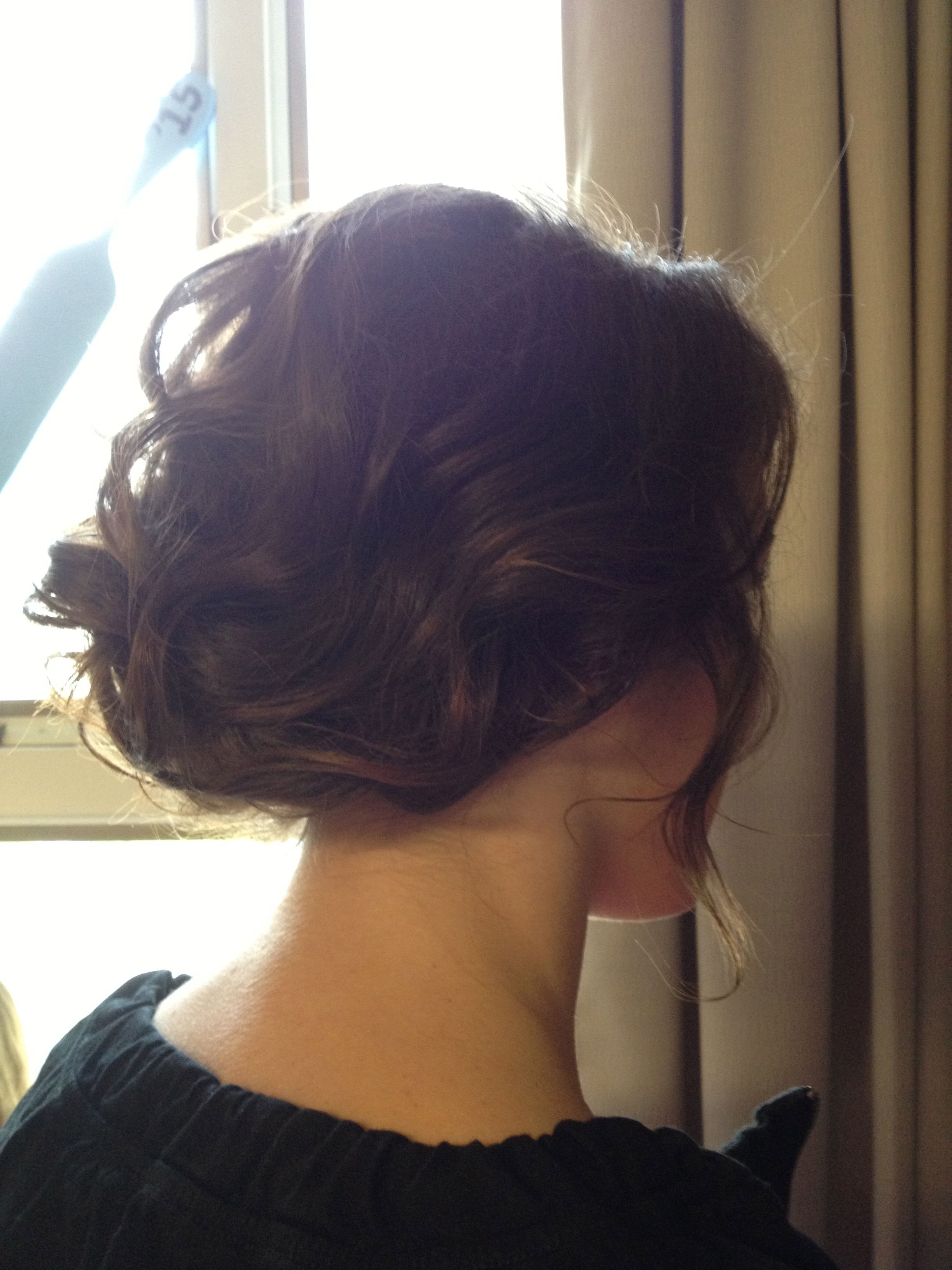 Formal updo did this on myself very easy hair pinterest