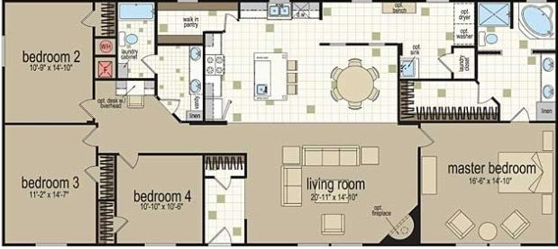 x304 color floor plan doublewide 32x68jpg 619277 pixels Ideas