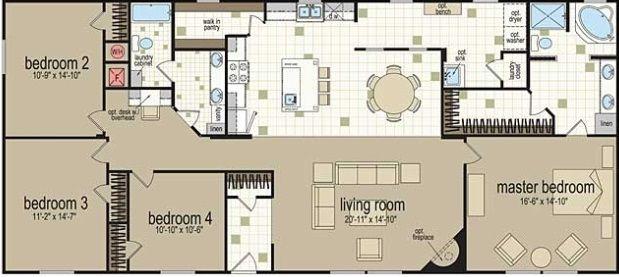 x304-color-floor-plan-doublewide-32x68.jpg 619×277 pixels | Ideas ...