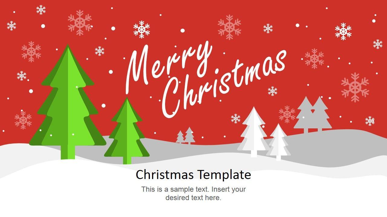 Christmas Powerpoint Template Powerpoint Templates Pinterest