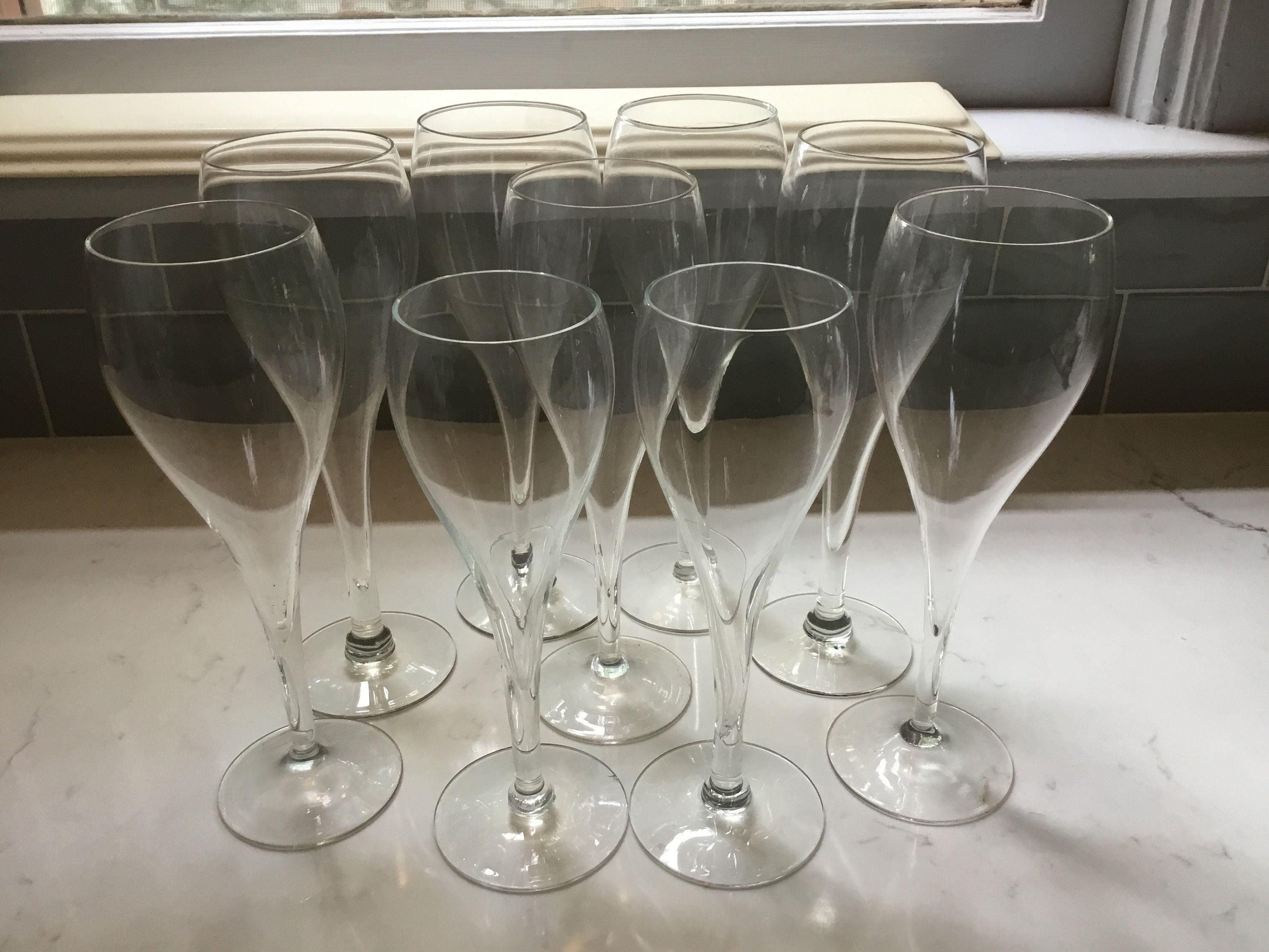 Crystal Hollow Stem Champagne Flutes