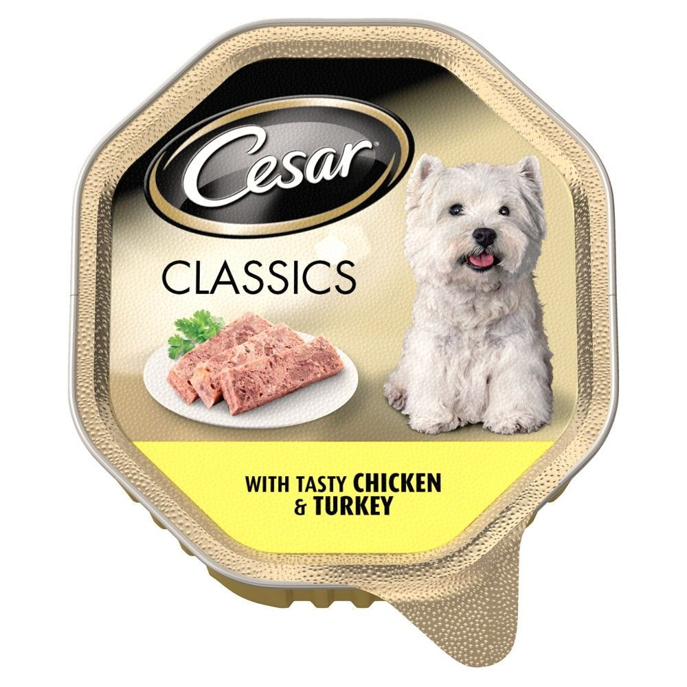 Cesar classics with tasty chicken turkey dog food 14 x