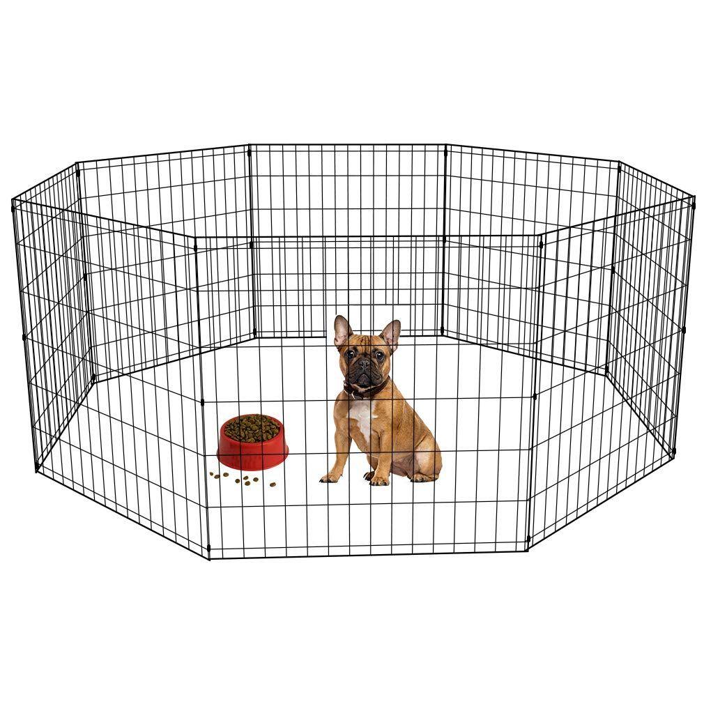 Bestpet puppy pet playpen 8 panel indoor outdoor metal