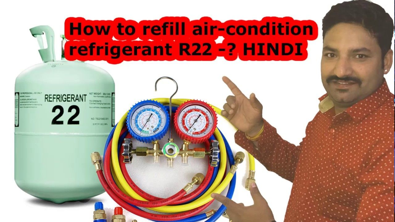 How to refill aircondition refrigerant R22 Hindi Air