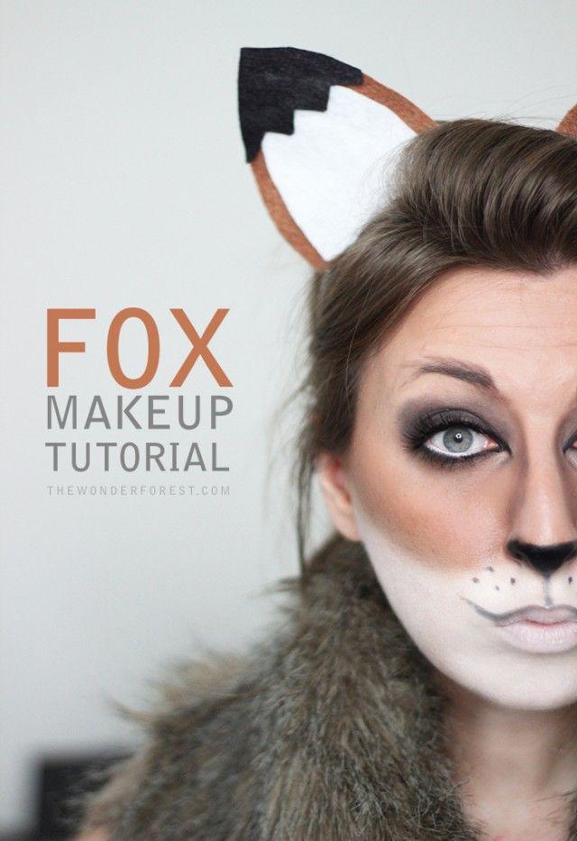 50 Halloween Hair and Makeup Tutorials Fox makeup, Halloween hair - easy makeup halloween ideas