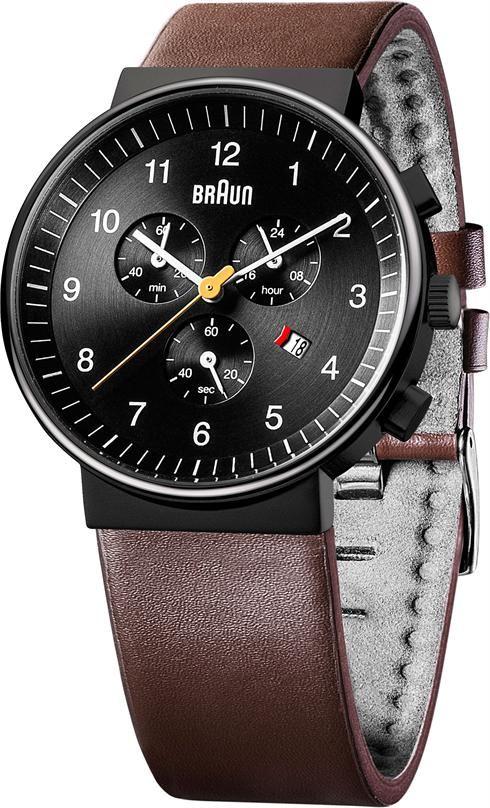 7139ab23f2fb8 Braun BN0035 Classic Chronograph Black Brown