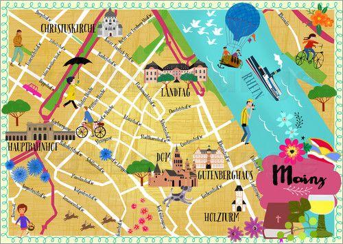 Elisandra Sevenstar Mainz Map Illustrationen Pinterest Mainz