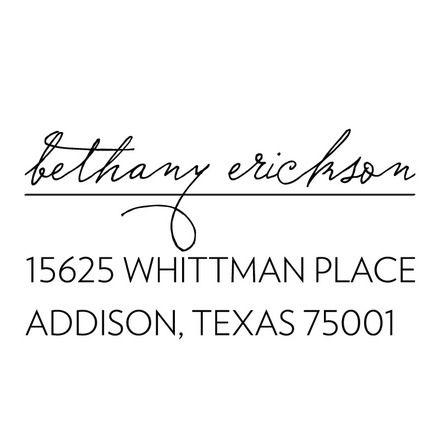 Signature Address - Custom Self Inking Stamps in Black | Three Designing Women