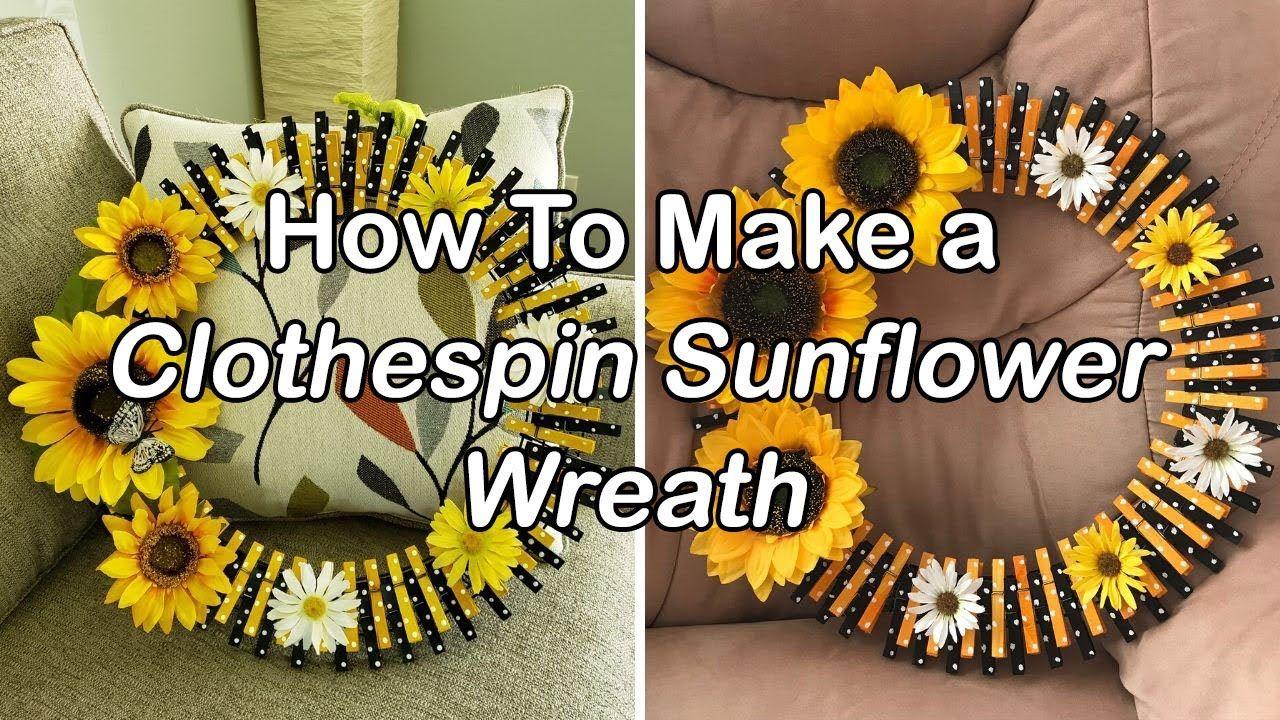 Photo of Wie man einen Wäscheklammer-Sonnenblumenkranz macht – Einfaches Tutorial