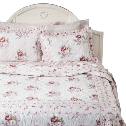 simply shabby chic simply shabby chic mayberry rose quilt whitepink fullqueen size home bed u0026 bath bedding quilts u0026 coverlets
