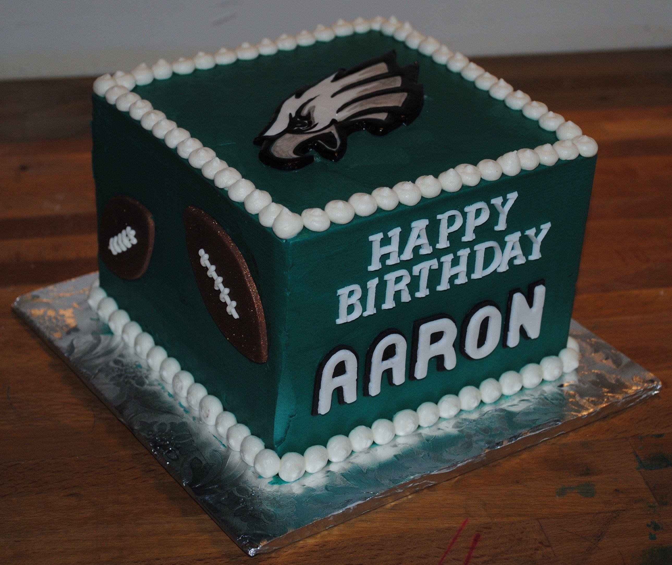 Philidelphia Eagles Football Cake Sports Cakes Pinterest