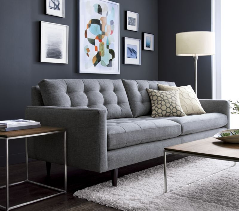 Petrie Mid Century Sofa Reviews Crate And Barrel Living Room Diy Living Room Sofa Home Decor