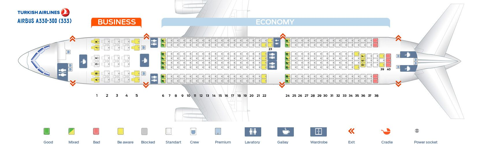 Seat Map And Seating Chart Airbus A330 300 Turkish Airlines Airbus Seating Plan Seating Charts
