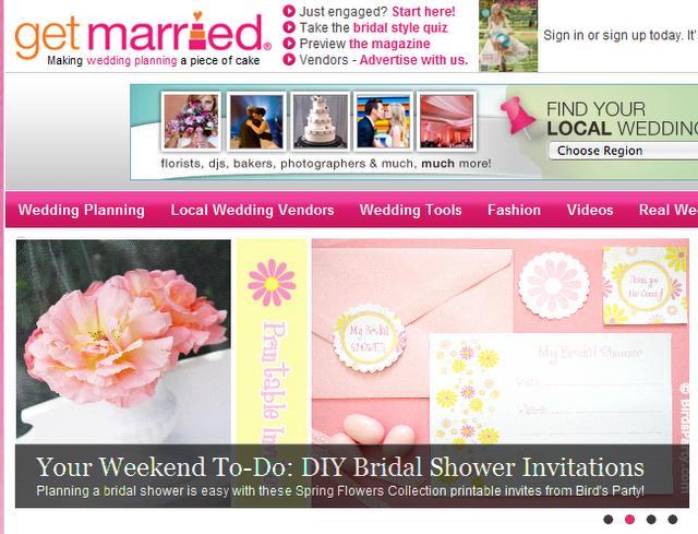 Bridal shower printables - free