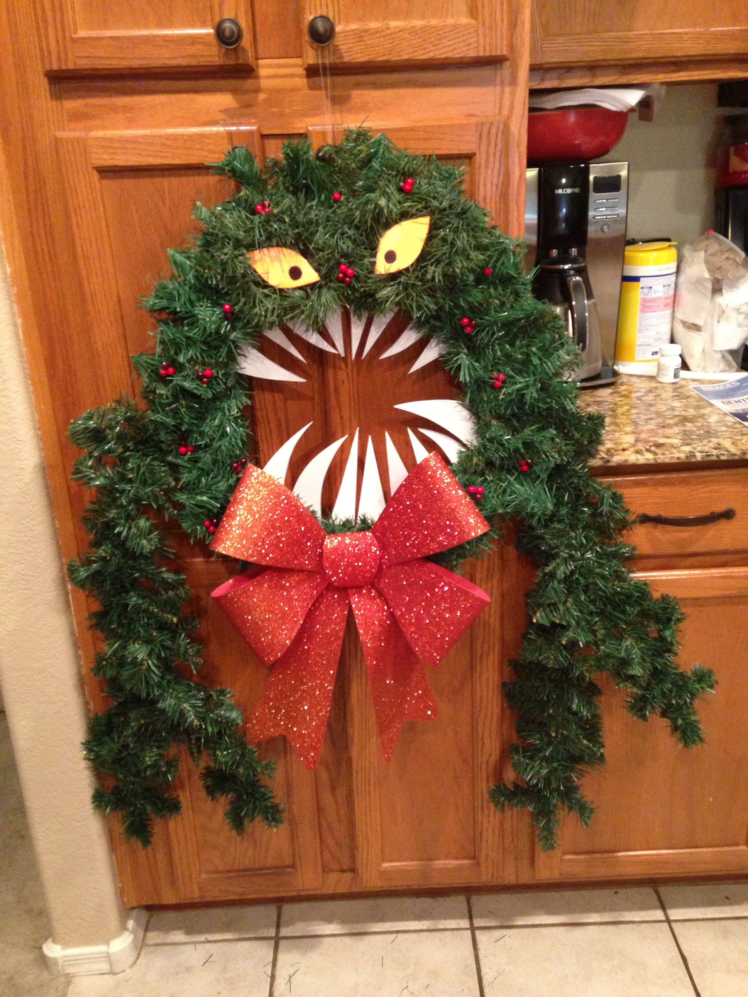 My DIY Man eating wreath from Nightmare before Christmas all