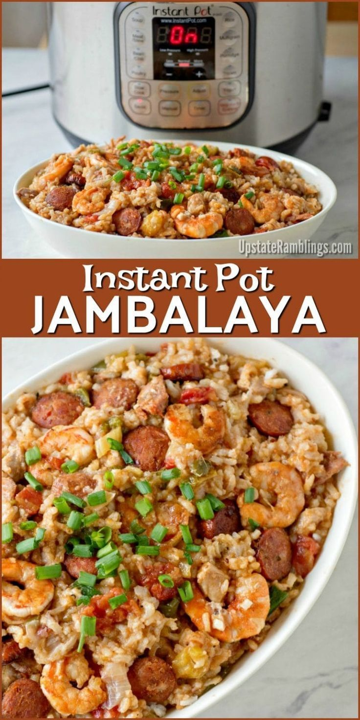 This Instant Pot Jambalaya recipe is a Cajun inspired one dish recipe with shrim This Instant Pot Jambalaya recipe is a Cajun inspired one dish recipe with shrim