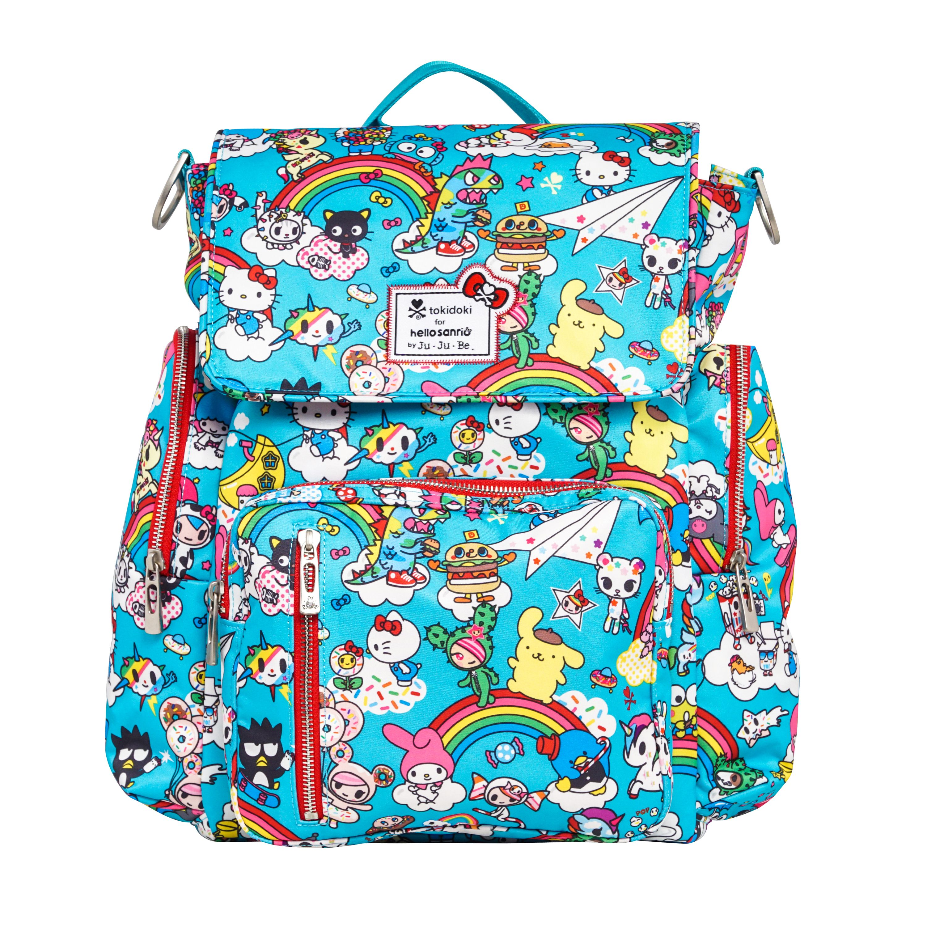 654c0f06891a New Tokidoki + Sanrio bags   an explosion of pop culture awesomeness.  Rainbow Dreams Be Sporty. Rainbow Dreams Be Sporty Jujube Backpack