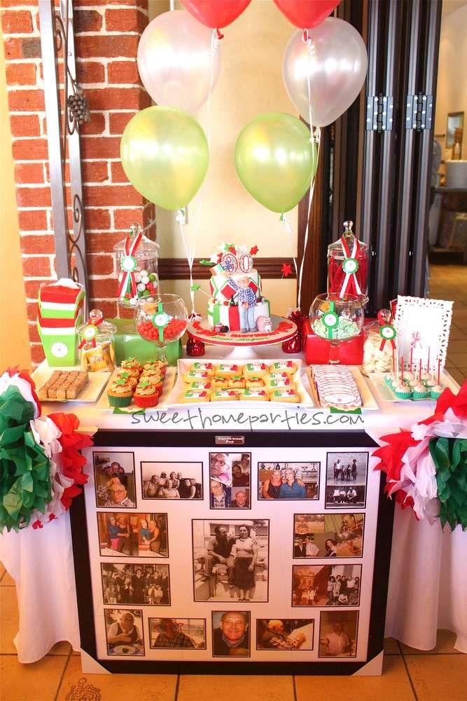 90th birthday italian birthday party ideas in 2019 for Italian party