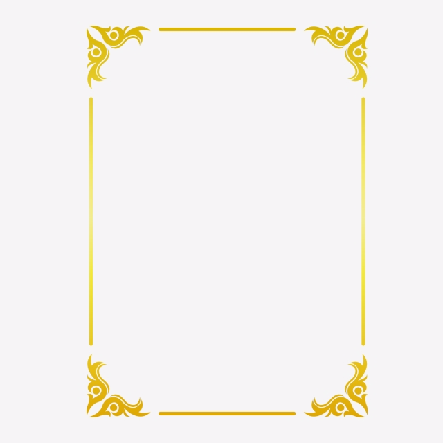 Golden Border Warm Color Border Frame Picture Frame Gold Rectangle Clipart Hot Stamping Style Bronzing Border Png And Vector With Transparent Background For Gold Graphic Design Frame Warm Colors