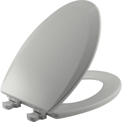 Bemis Lift Off Elongated Closed Front Toilet Seat In Ice Grey