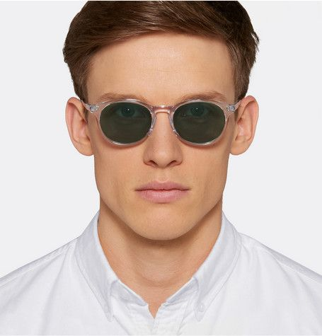 1e86e287140 Our Legacy Void Acetate Round-Frame Sunglasses