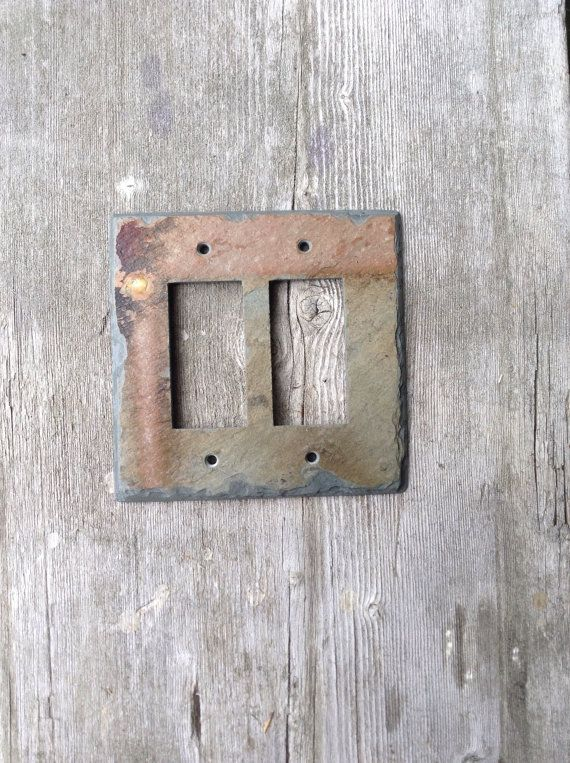 Slate Double Outlet GFI Switchplate Switch by VermontSlateArt