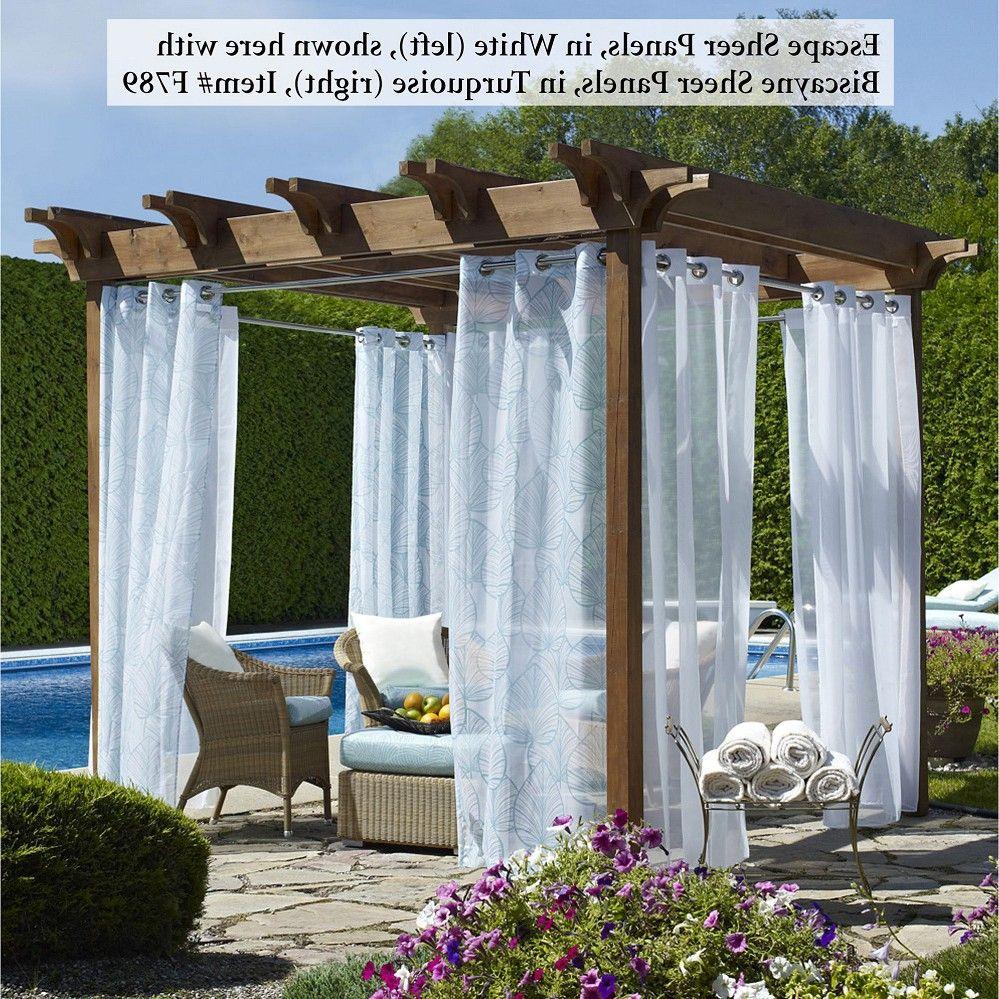Patio Sheer Curtain U2013 Escape Outdoor Sheer Grommet Panels, White