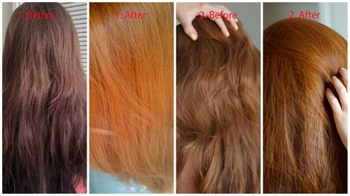 Imagenes De Lush Henna Hair Dye Before And After Marron