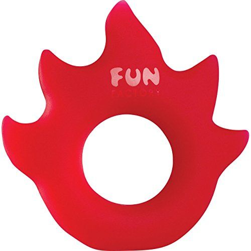 Fun Factory  Flame Red Lovering Penis Ring *** More info could be found at the image url.