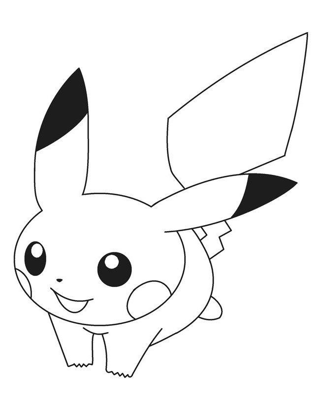 Cute Baby Pokemon Coloring Pages Baby Pikachu Pokemon ...